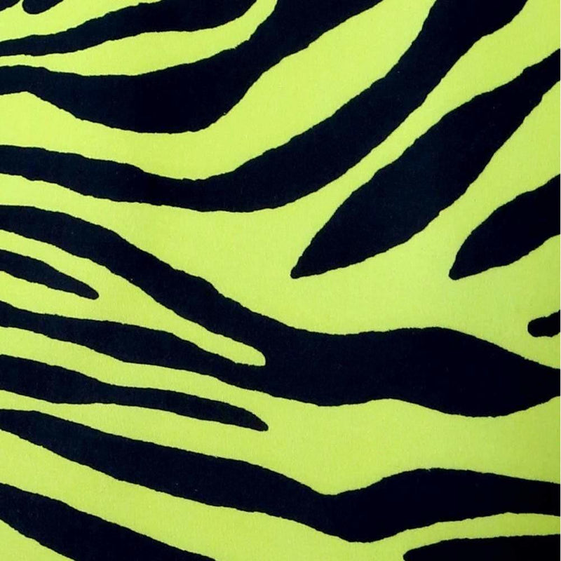 Plus Size Round Neck Mini Dress, Neon Tiger Print