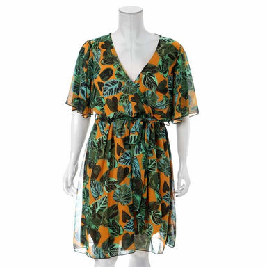 Posh Shoppe: Plus Size Printed Chiffon Midi Dress