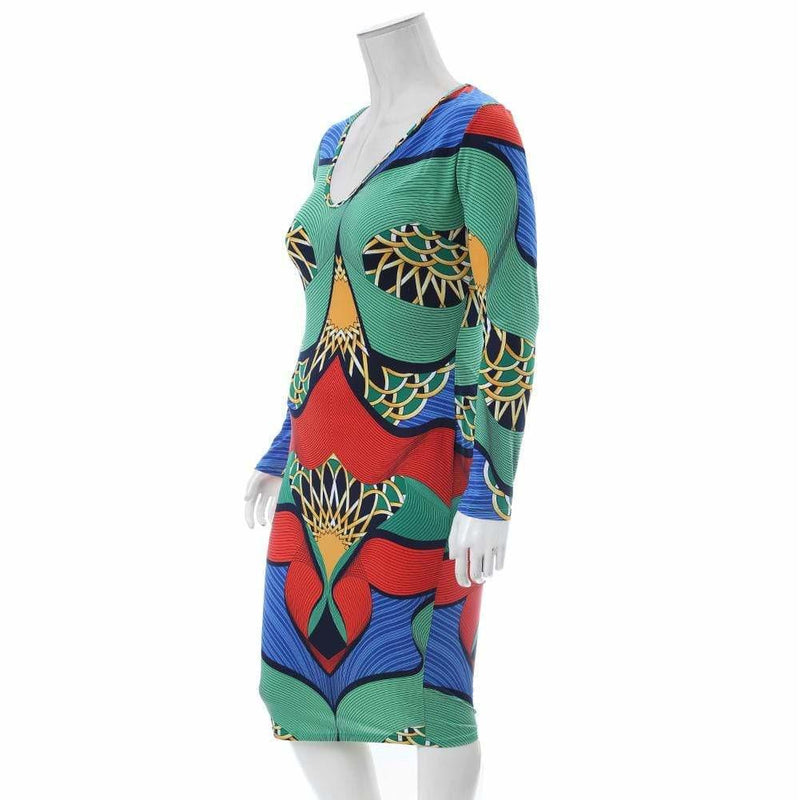 Posh Shoppe: Plus Size Art Deco Print Midi Dress Dress