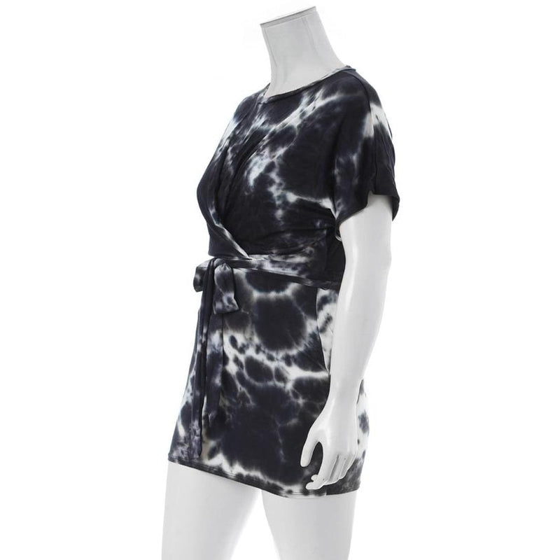 Posh Shoppe: Plus Size Tie Dye Tee Shirt Dress, Black Dress