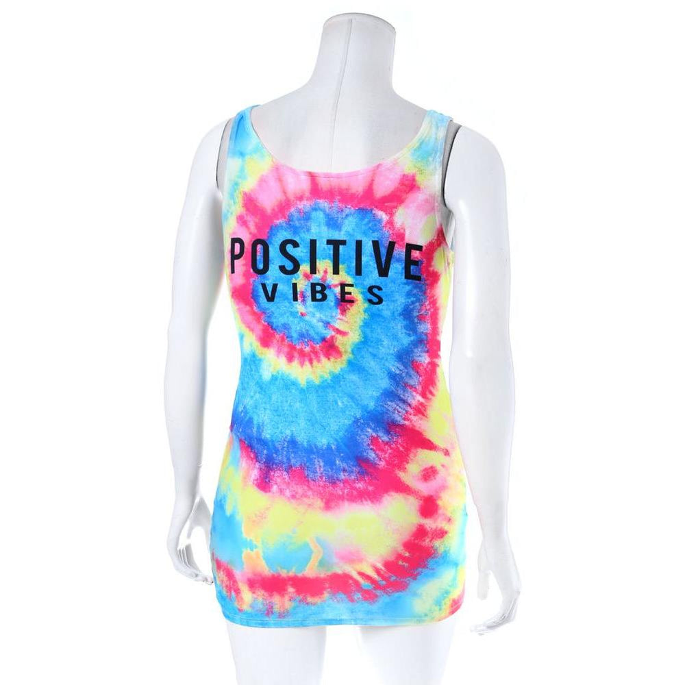 Posh Shoppe: Plus Size Tank Mini Dress, Tie Dye Print Dress