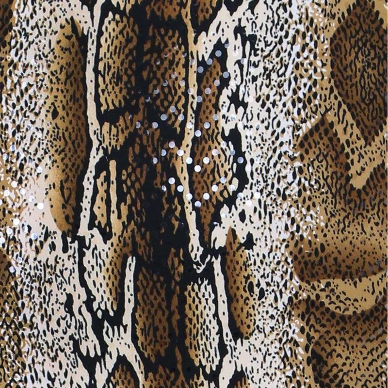 Posh Shoppe: Plus Size Double Slit Mini Dress, Brown Snake Print Dress
