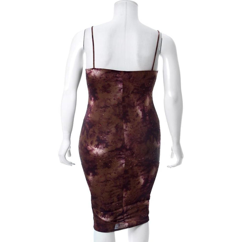 Plus Size Galaxy Slip Dress
