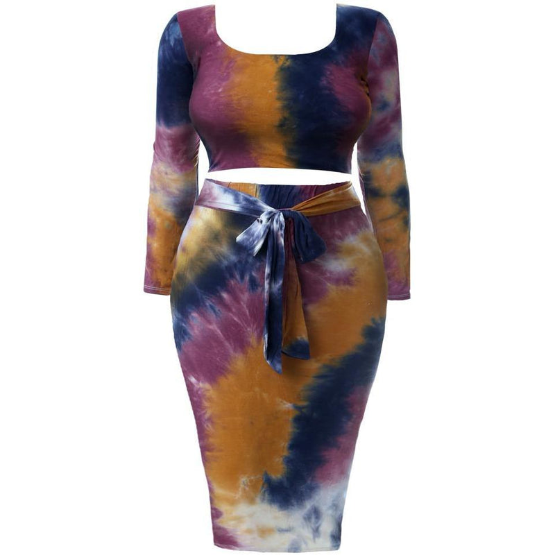 Plus Size Tank Mini Dress, Tie Dye Print