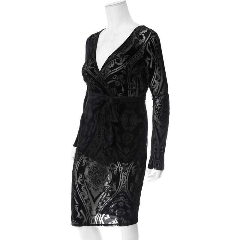Posh Shoppe: Plus Size Velvet Burnout Dress Dress