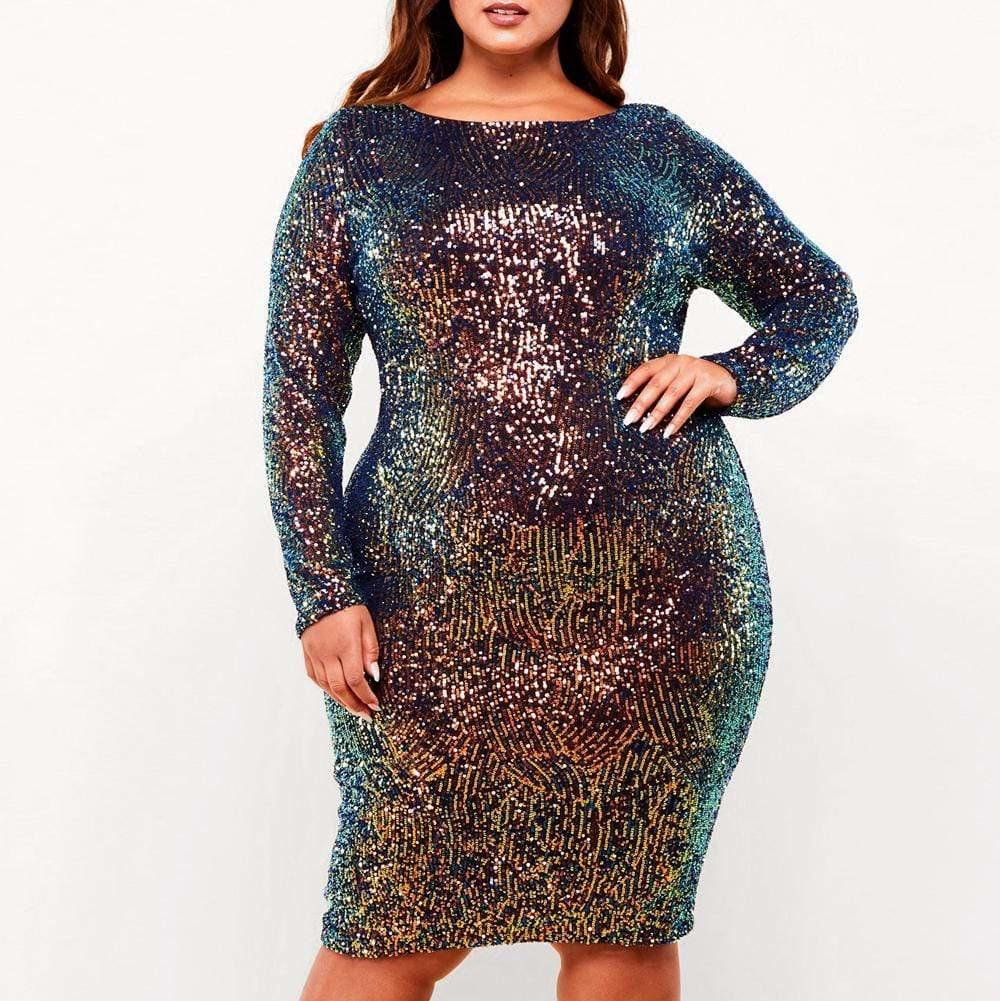 Plus Size Luxe Sequin Midi Dress