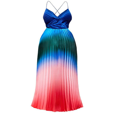 Posh Shoppe: Plus Size Sateen Maxi Dress, Mermaid Dip Dye Dress