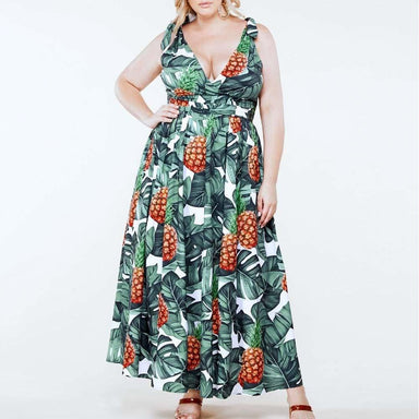 Posh Shoppe: Plus Size Tropic Maxi Dress Dress