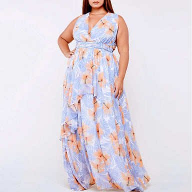 Posh Shoppe: Plus Size Multiway Floral Maxi Dress