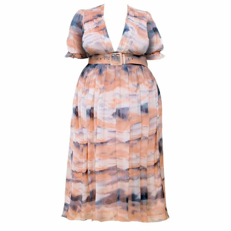 Plus Size Tank Mini Dress, Couture Print
