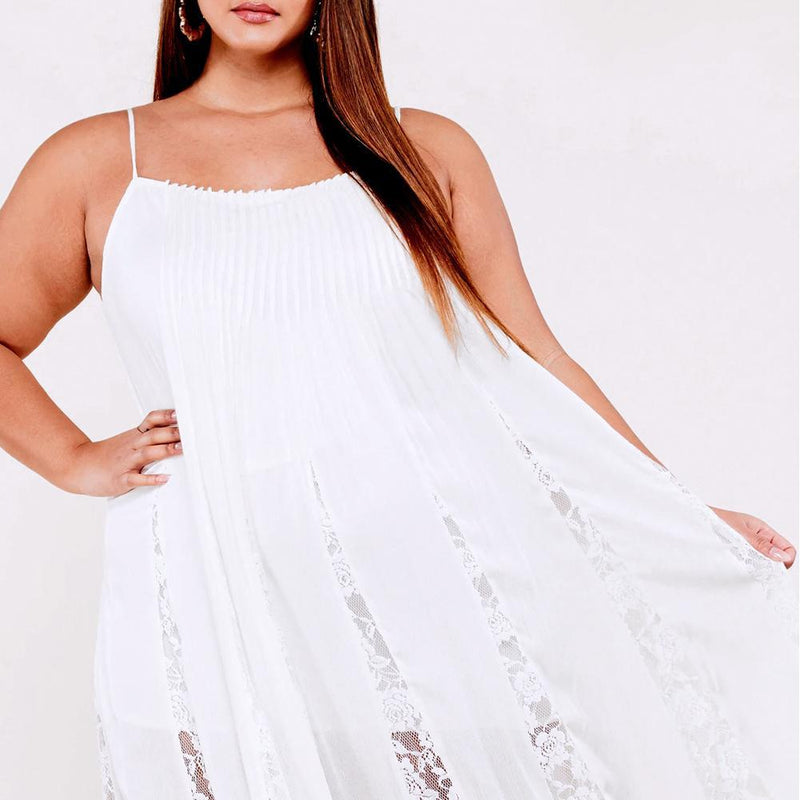 Posh Shoppe: Plus Size Lace Slip Swing Dress Dress