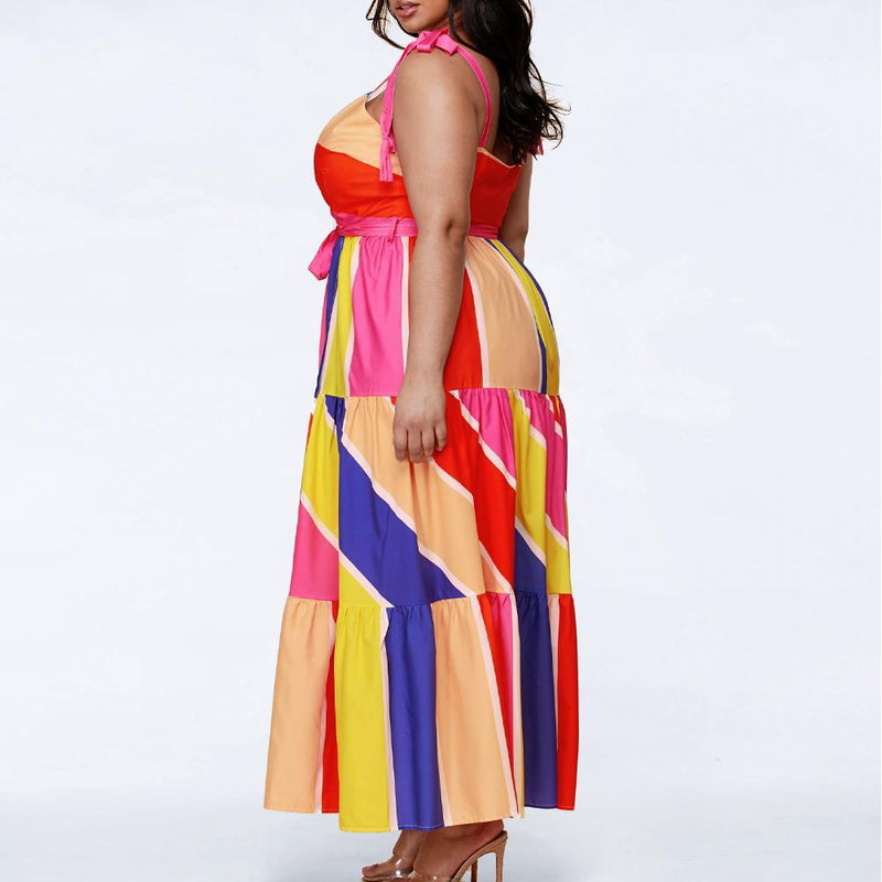 Plus Size Tiered Maxi with Ties