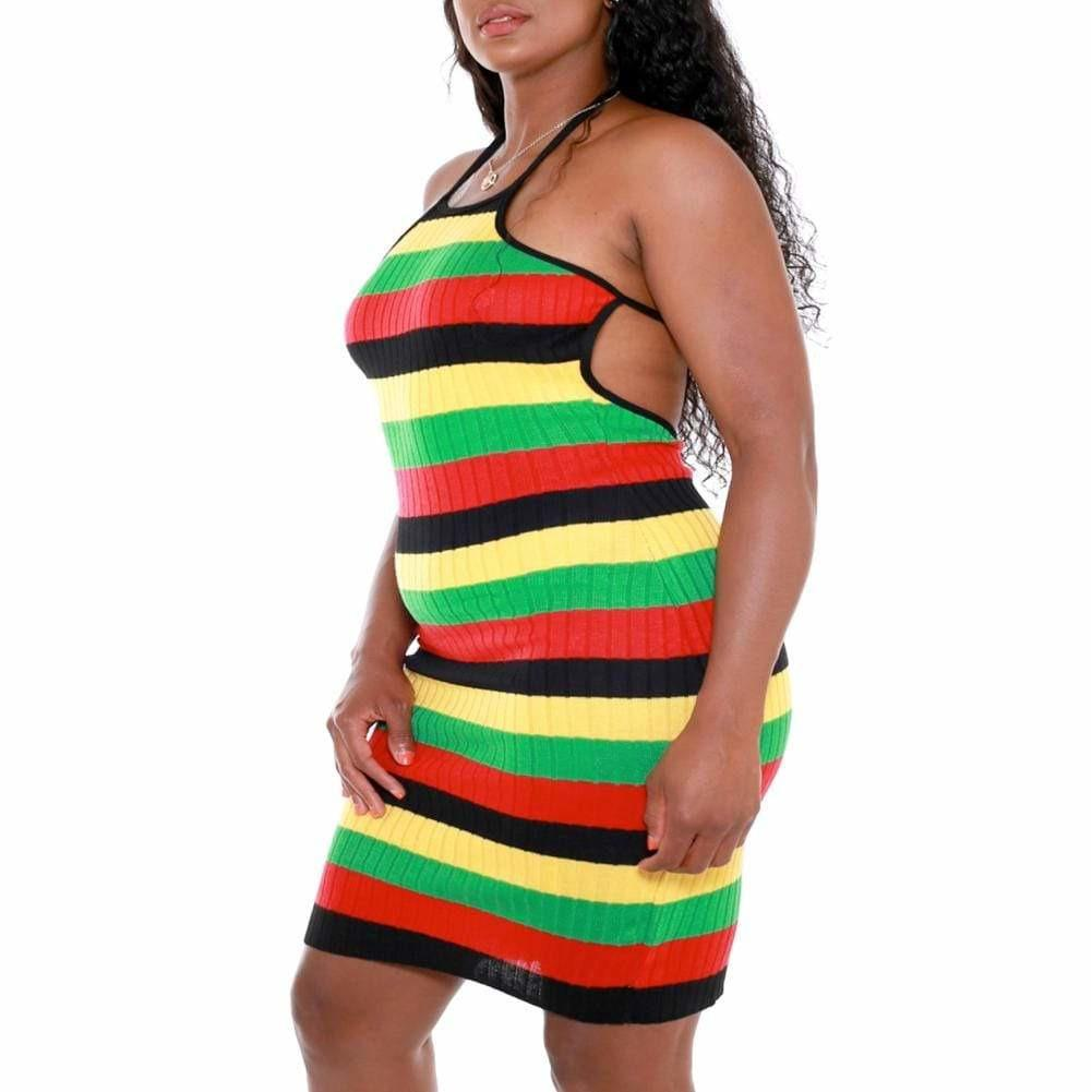 Posh Shoppe: Plus Size Ribbed Halter Mini Dress