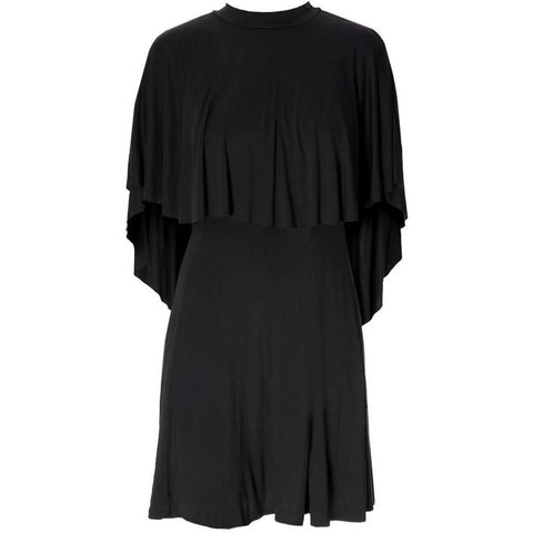 Plus Size Cape Mini Dress, Black