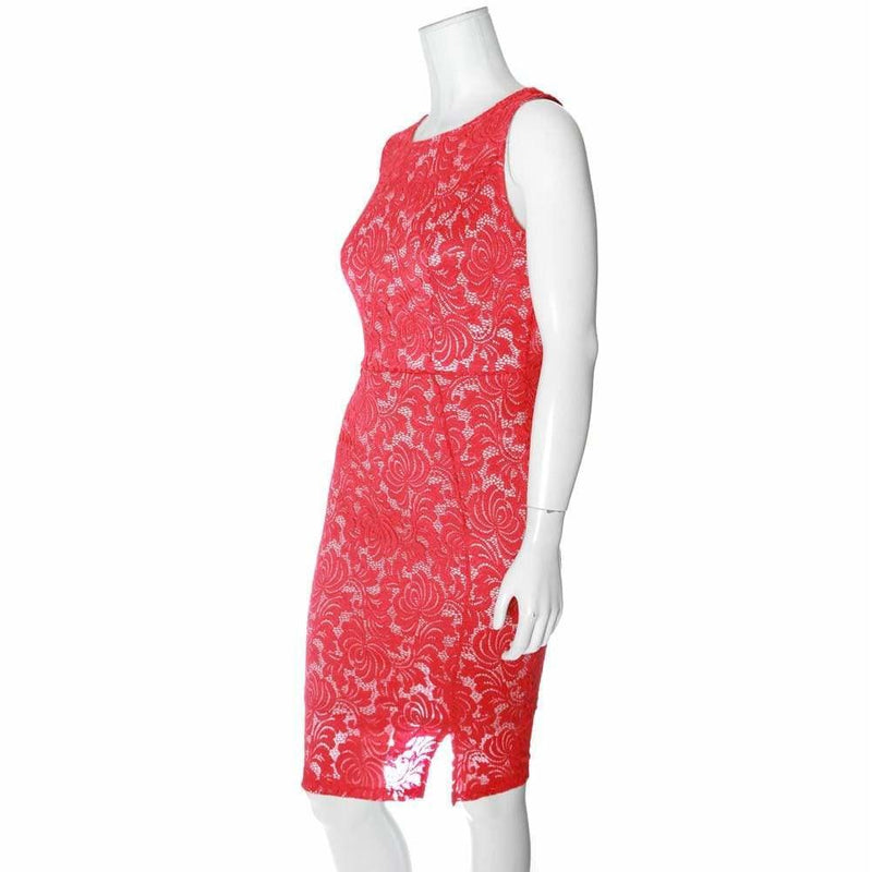 Posh Shoppe: Plus Size Sleeveless Lace Shift Dress, Red Dress