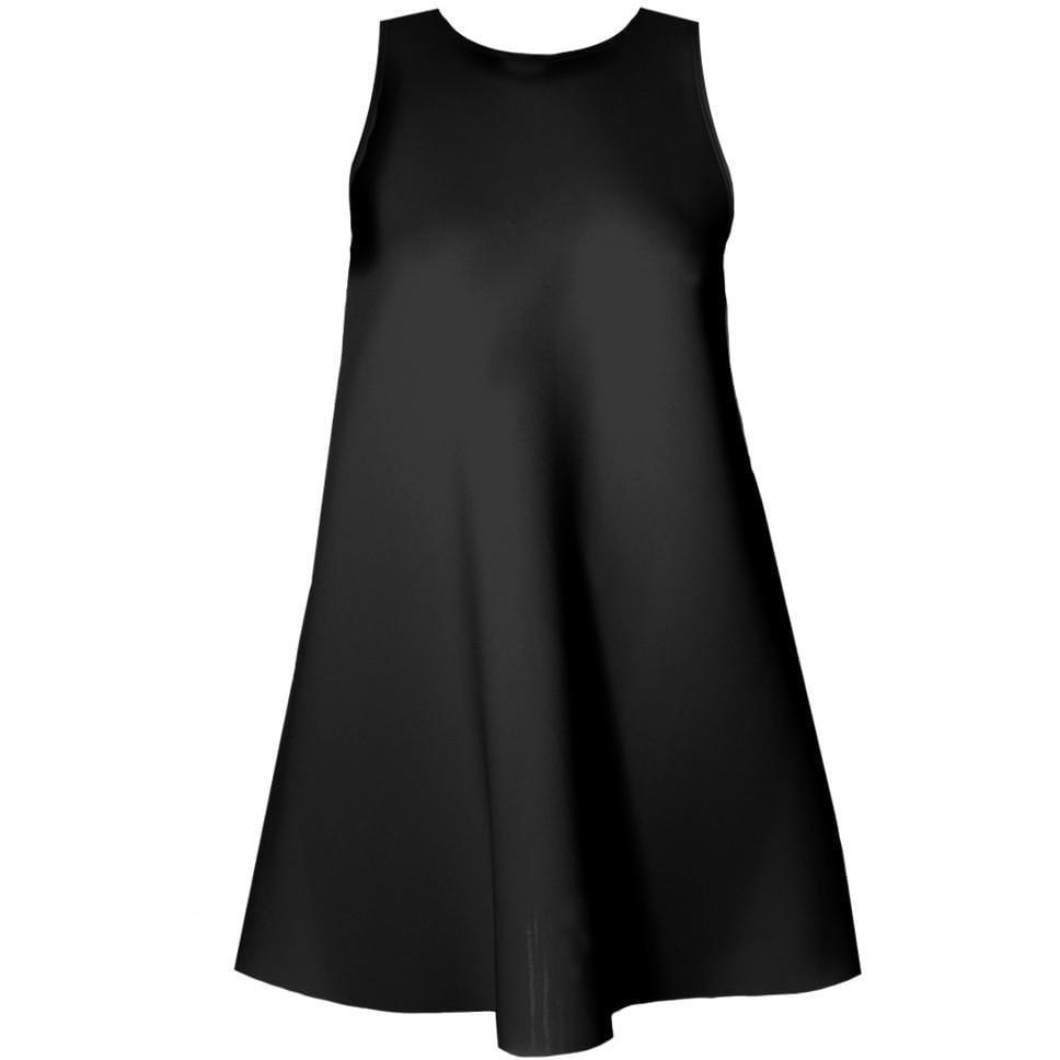 Posh Shoppe: Plus Size Mod Shift Dress, Black Dress
