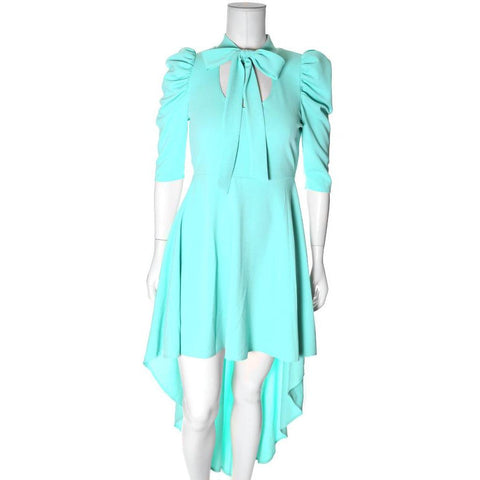 Plus Size Blouse Dress With High Low Hem, Mint