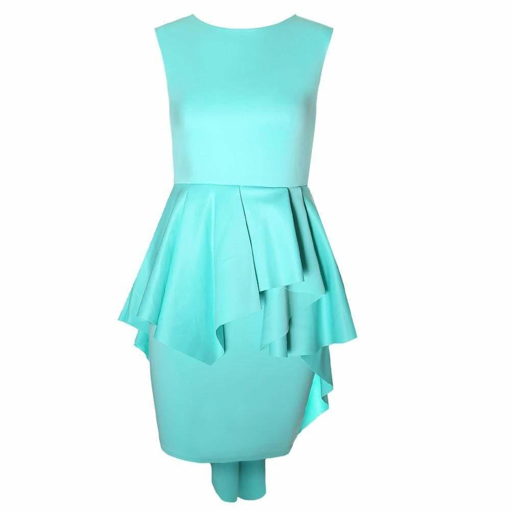 Plus Size Cascade Shift Dress, Mint
