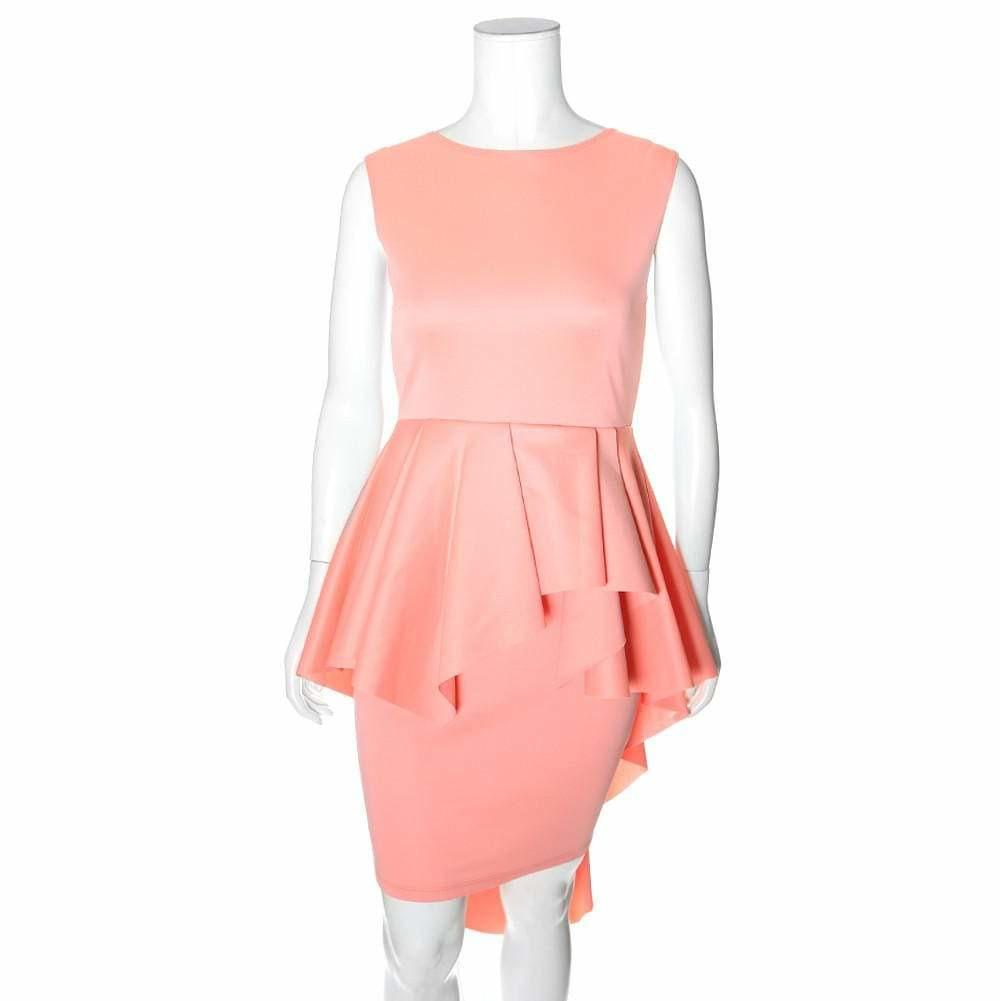 Posh Shoppe: Plus Size Cascade Shift Dress, Peach Dress
