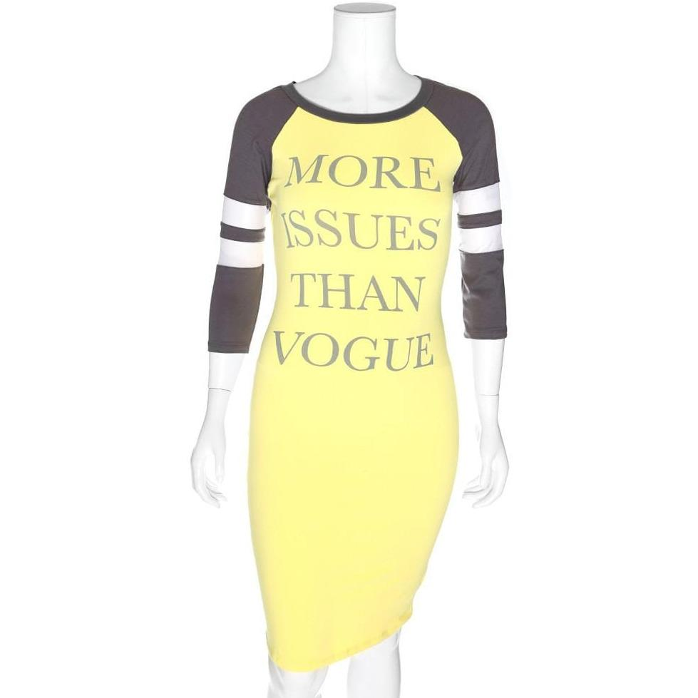 Posh Shoppe: Plus Size Raglan Dress with Mesh Insert Sleeves, Yellow and Gray Dress
