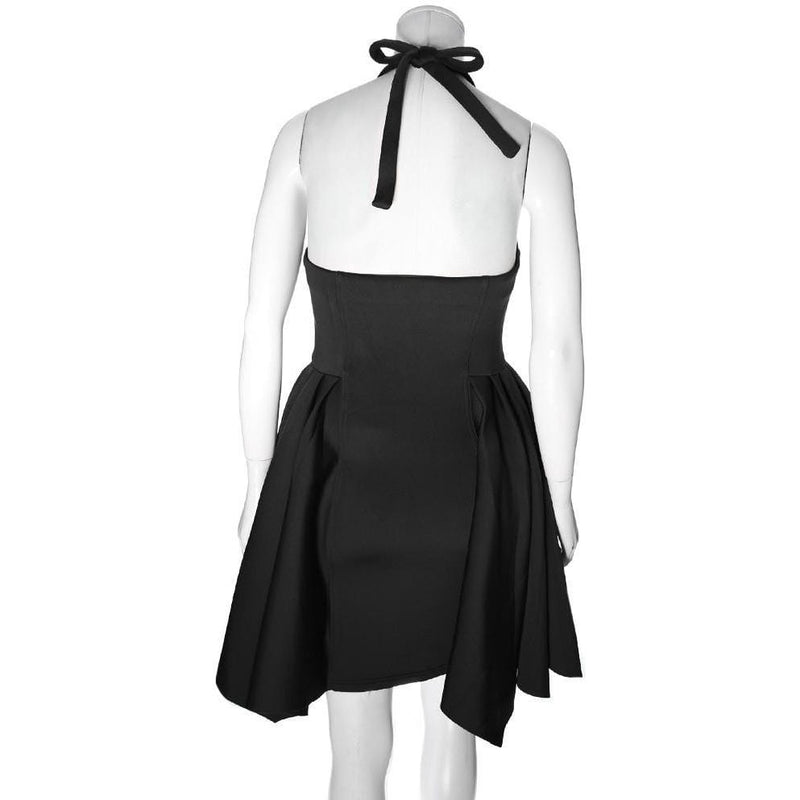 Posh Shoppe: Plus Size Halter Sailor Dress, Black Dress
