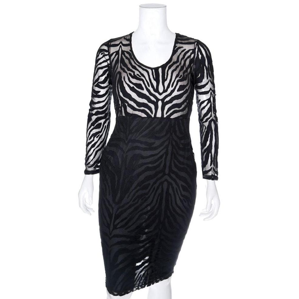 Posh Shoppe: Plus Size Sheer Animal Burnout Overlay LBD Dress