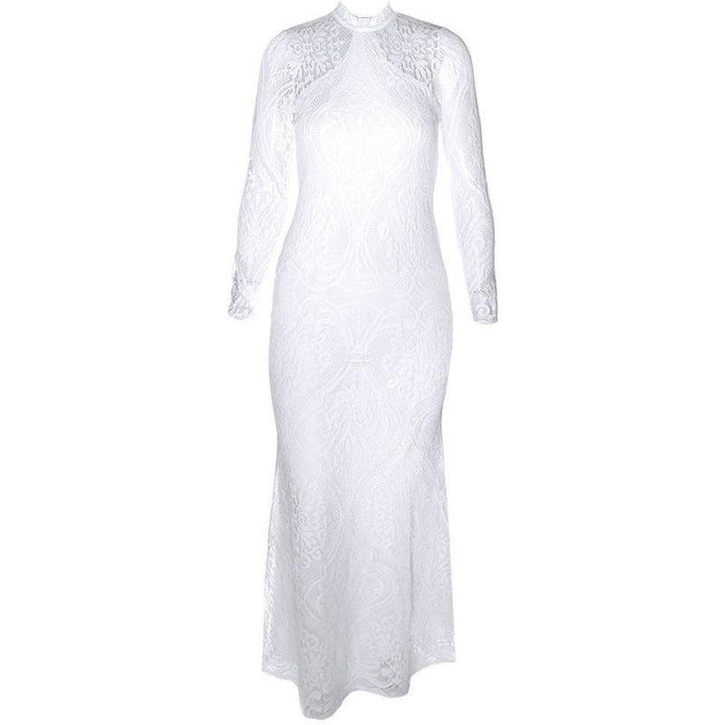 Posh Shoppe: Plus Size Crochet Lace Open Back Dress, White Dress