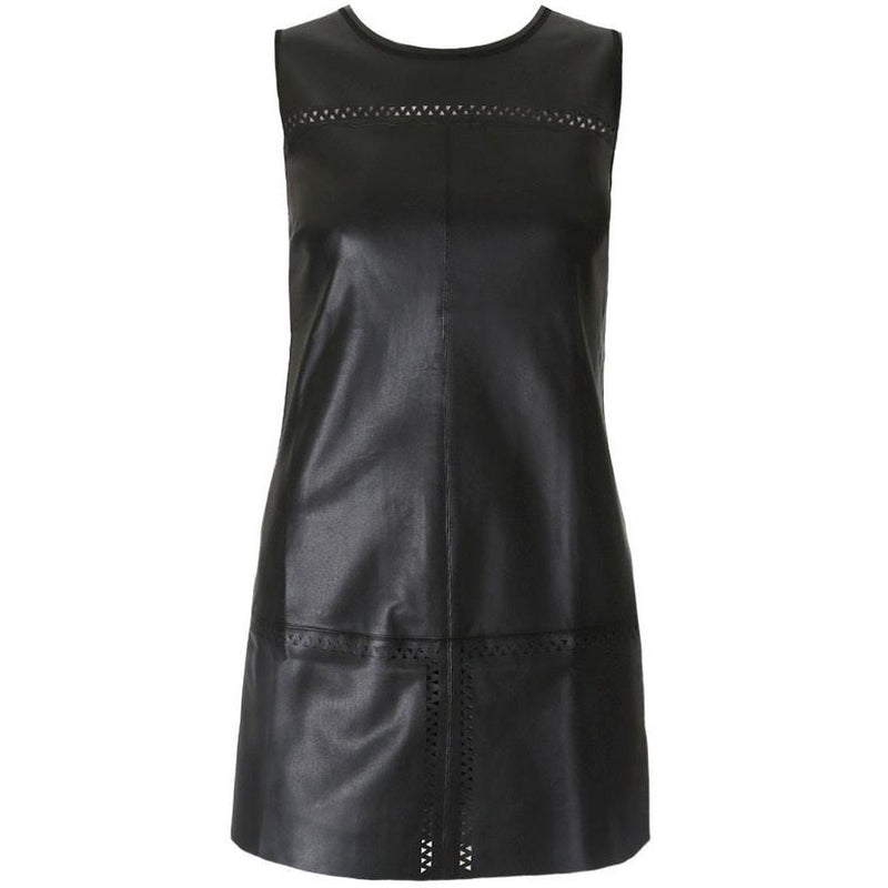 Posh Shoppe: Plus Size Faux Leather Mod Shift Dress