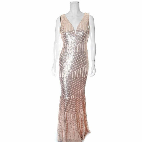 Art Deco Sequins Maxi, Rose Gold