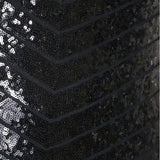 Plus Size Art Deco Sequins Maxi, Black