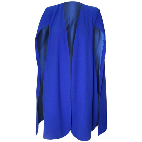 Plus Size Suiting Cape Blazer, Cobalt