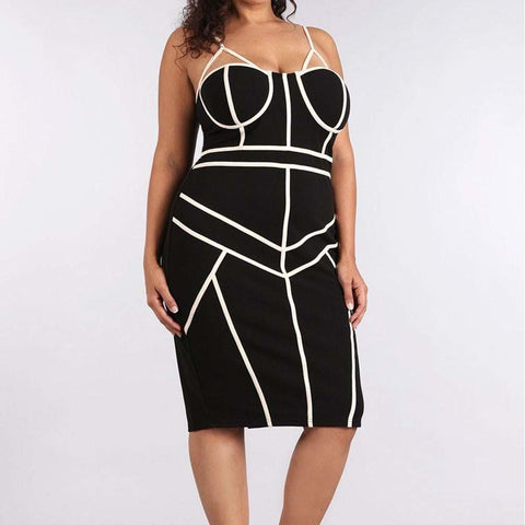 Plus Size Spaghetti Strap Corset Dress