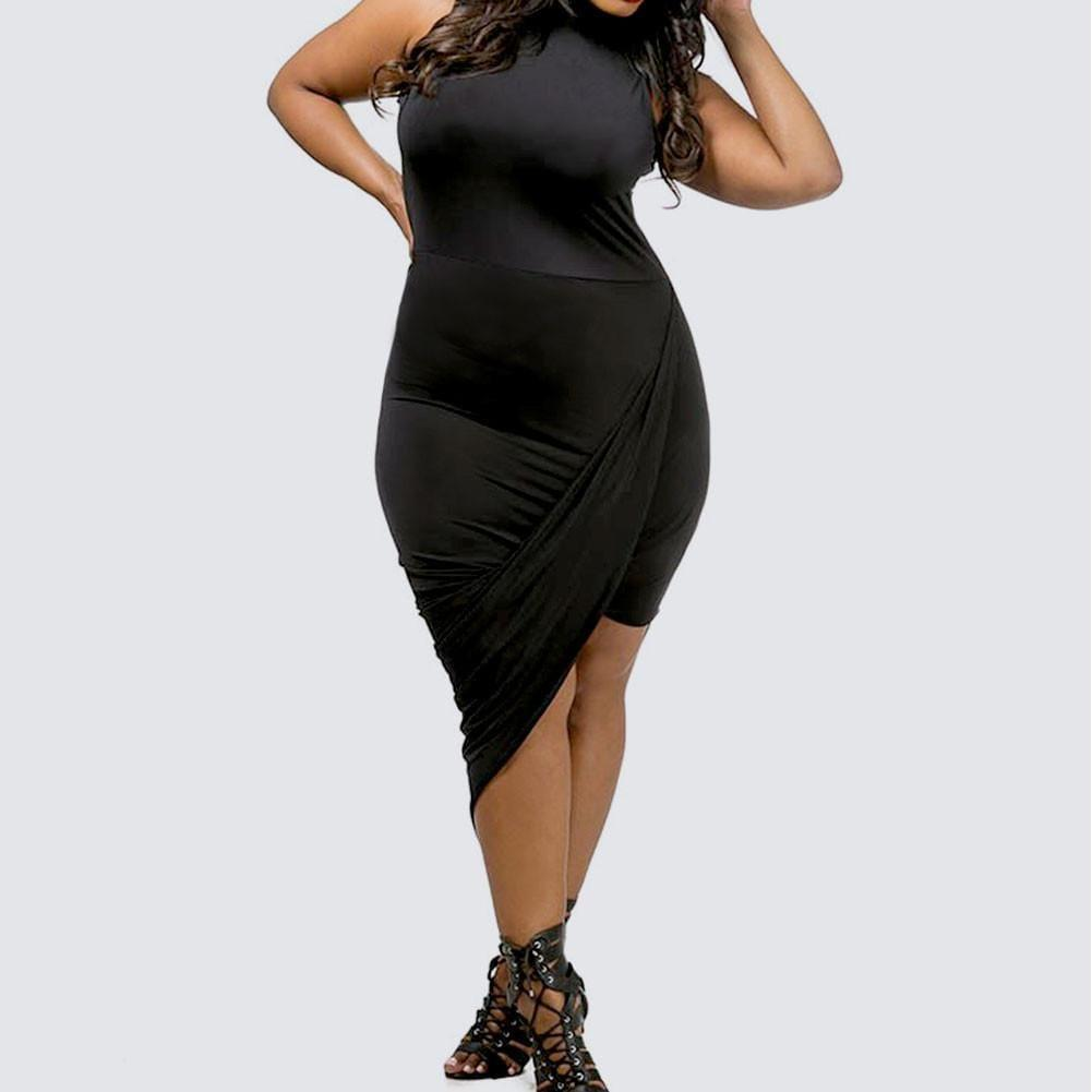 Trendy Plus Size Little Black Dresses | Posh Shoppe