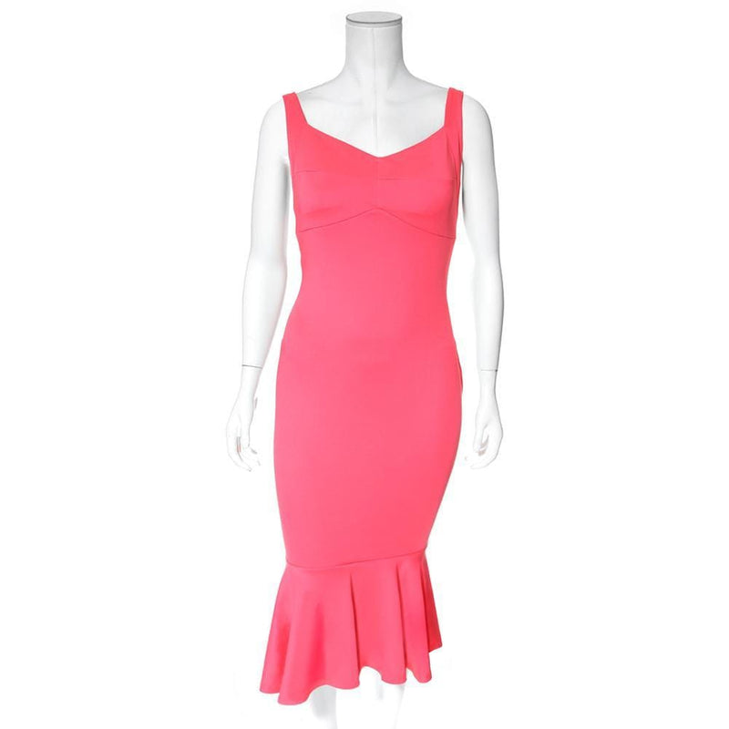 Posh Shoppe: Plus Size Sweetheart Ruffle Hem Dress, Bright Melon Dress
