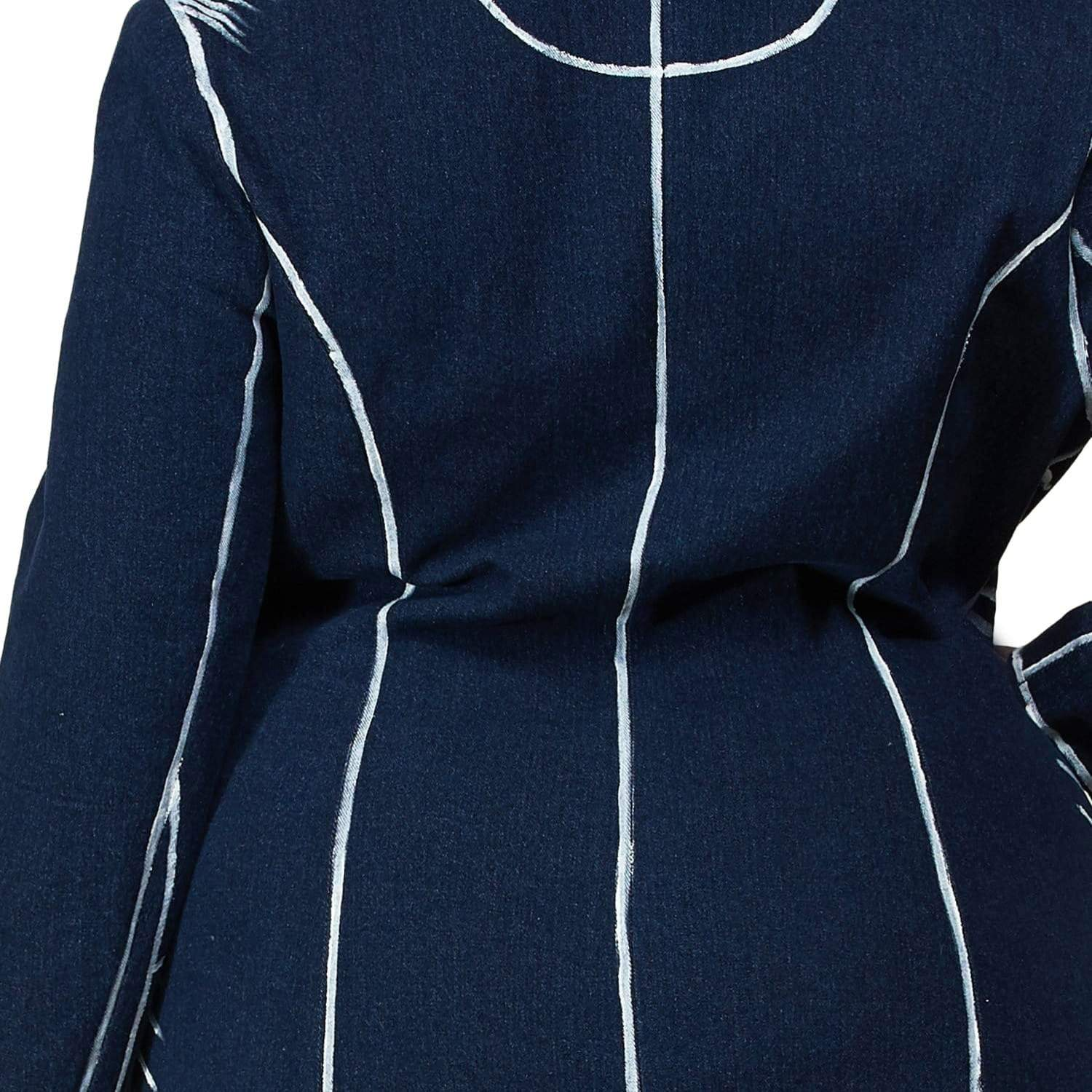 Blue Blazer Mini Dress - Posh Shoppe