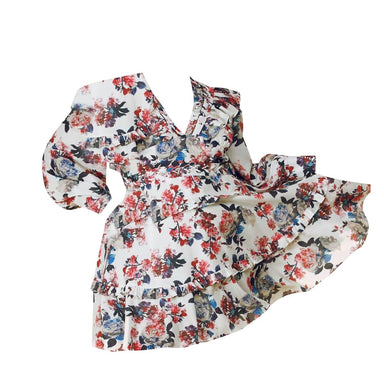 Gardenia Floral Print Mini Dress - Posh Shoppe