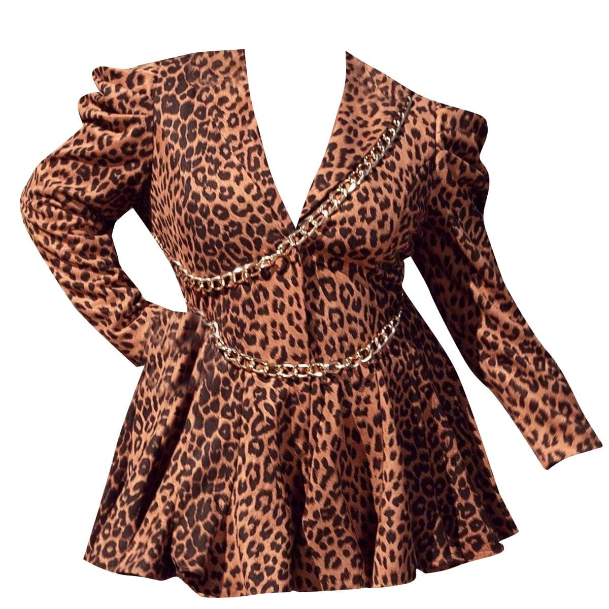 Posh Shoppe: Leopard Mini Dress Dress