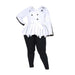 Posh Shoppe: Plus Size Peplum Colorblock Trench, White & Black Outerwear