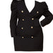 Posh Shoppe: Blazer Mini Dress-Black Dress