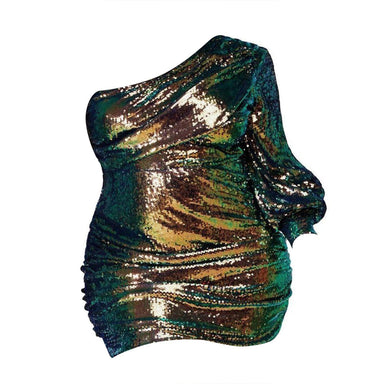 Posh Shoppe: Iridescent Sequin Mini Dress Dress