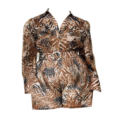 Posh Shoppe: Wild Animal Print Romper Dress