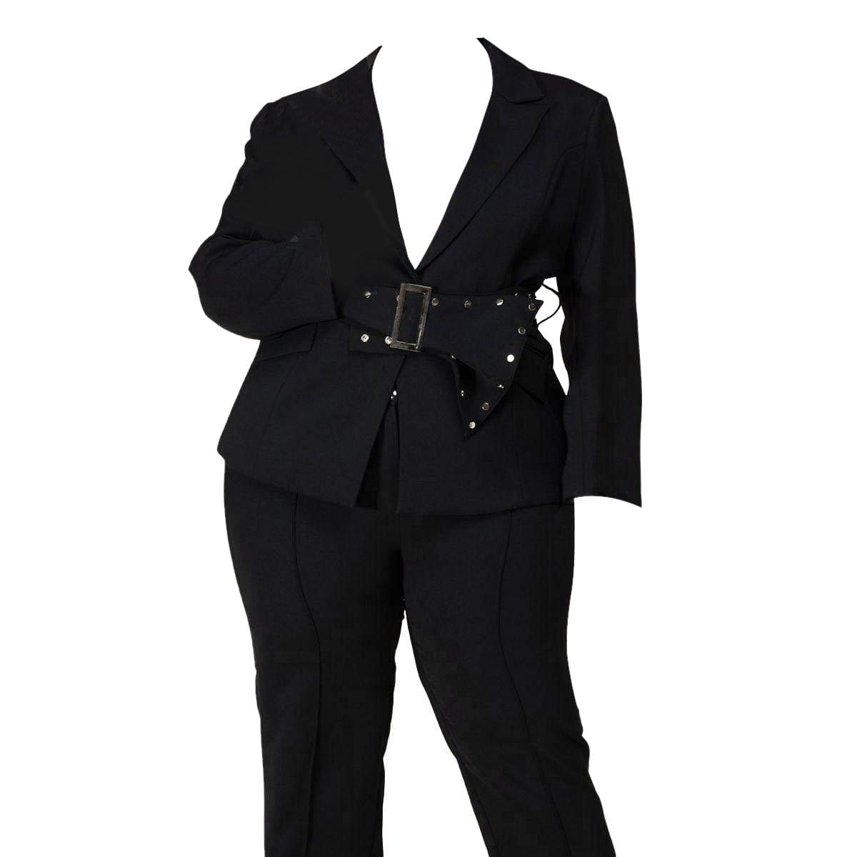 Posh Shoppe: Black Blazer Pant Set Bottoms
