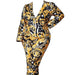 Posh Shoppe: Baroque Print Atop a Black and White Abstract Pattern Blazer Set Dress