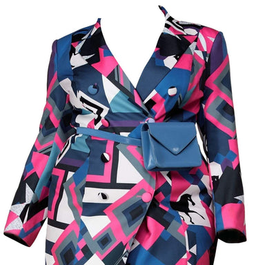 Posh Shoppe: Printed Blazer Mini Dress Dress