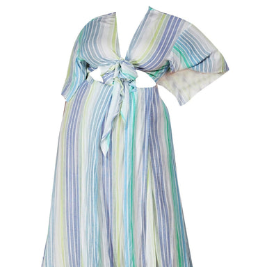 Pastel Multi Stripe Plus Maxi Dress - Posh Shoppe