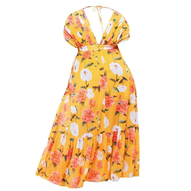 Posh Shoppe: Plus Size Floral Goddess Maxi Dress