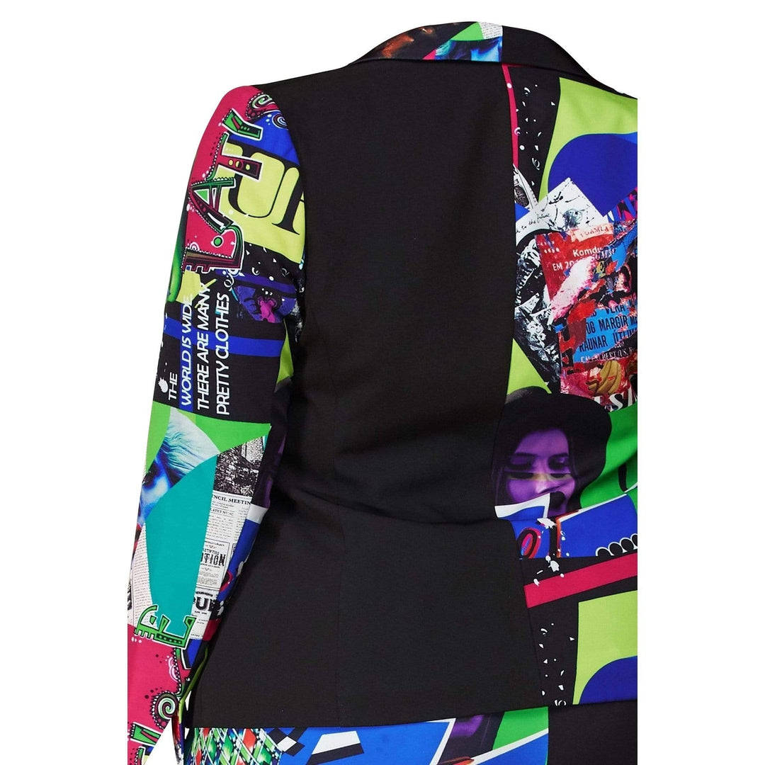 Pop Art Blazer with Straight-leg Pants - Posh Shoppe