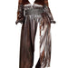 Posh Shoppe: Rustic Metallic Maxi Dress-Gray Dress