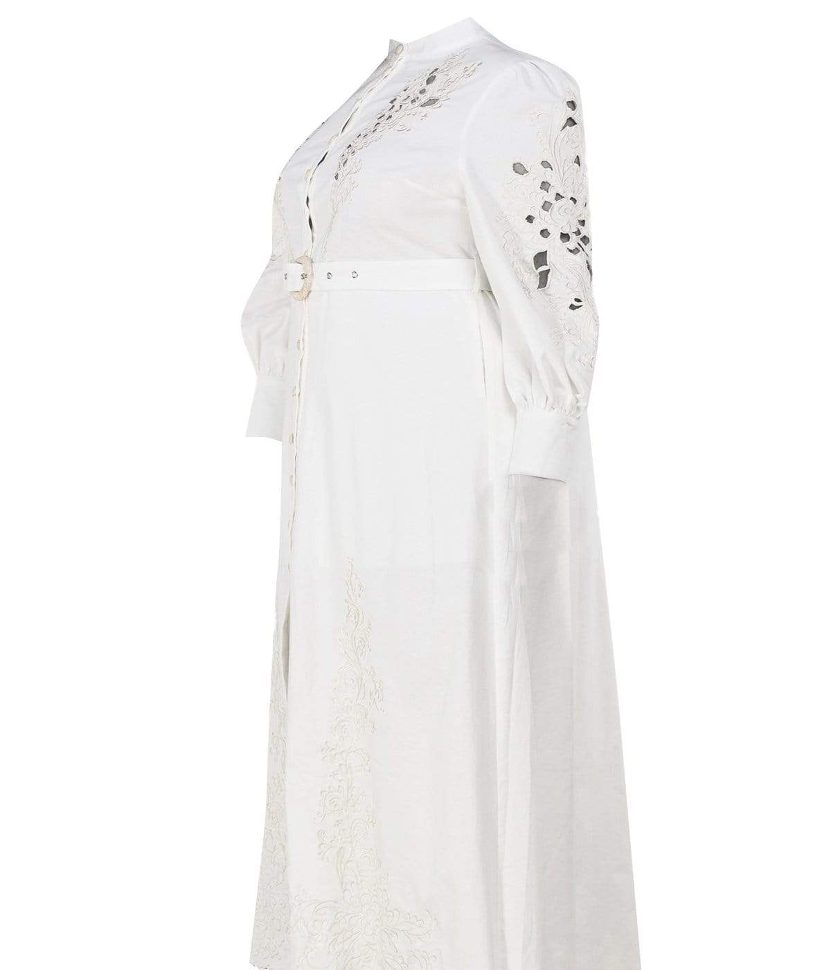 White Linen Blend Maxi Dress - Posh Shoppe