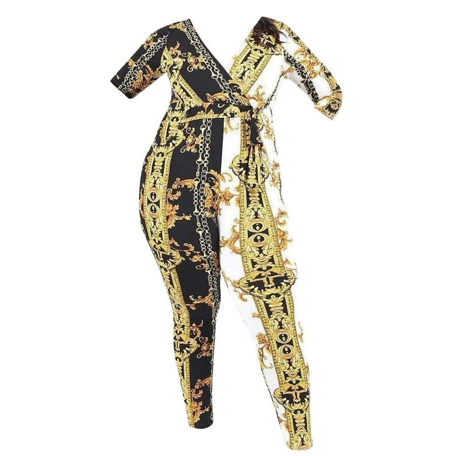 Posh Shoppe: Pattern Printed Jumpsuit Dress